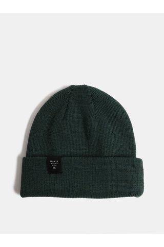 Zelená unisex čepice z Merino vlny Makia