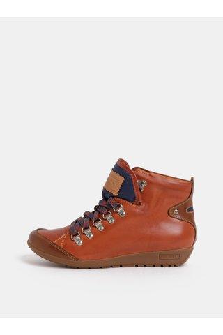 Hnědé kožené kotníkové boty Pikolinos Teja