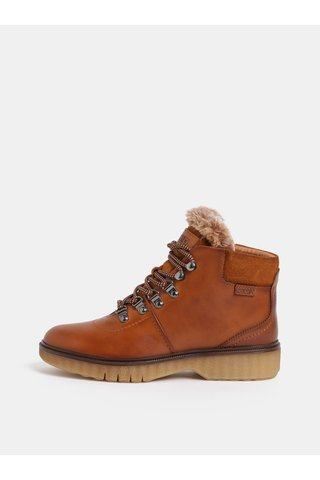 Hnědé kožené kotníkové boty Pikolinos Brandy