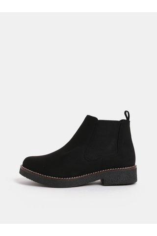 Černé chelsea boty v semišové úpravě OJJU