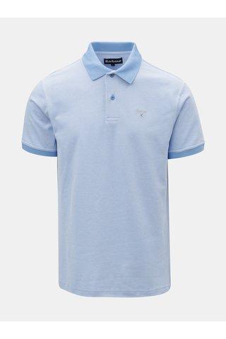 Tricou polo albastru deschis cu broderie discret Barbour Sports Polo Mix