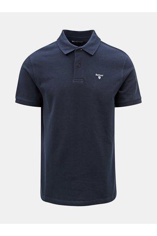 Tricou polo albastru inchis cu broderie discret Barbour Sports Polo