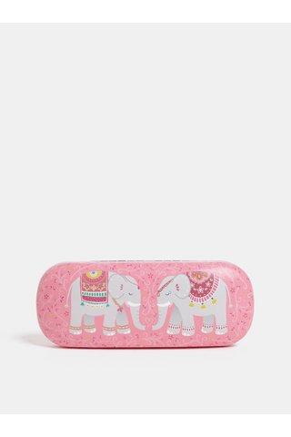 Toc de ochelari roz cu motiv elefanti Sass & Belle