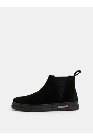 Černé pánské semišové zimní chelsea boty s vlněnou podšívkou GANT