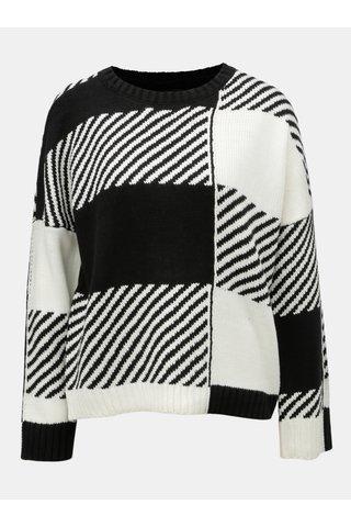 Pulover alb-negru cu model ONLY Kasey