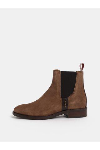 Hnědé dámské semišové chelsea boty GANT