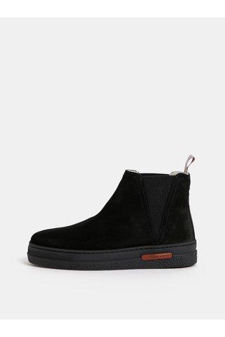 Černé dámské zimní semišové chelsea boty s vlněnou podšívkou GANT