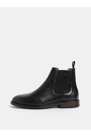 Černé pánské kožené chelsea boty GANT