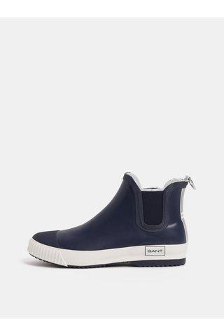 Tmavě modré dámské gumové chelsea boty GANT