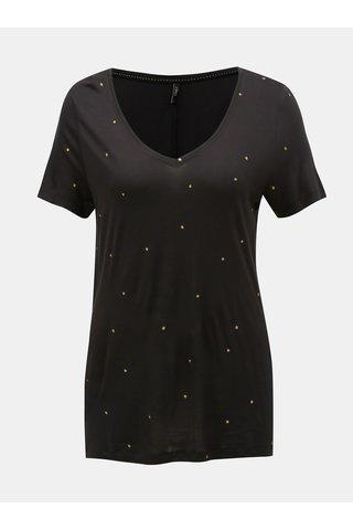 Tricou negru cu buline lejer ONLY Sabel