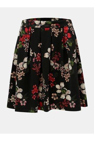 Černá áčková květovaná sukně ONLY Doris