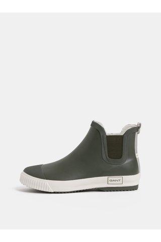 Khaki dámské gumové chelsea boty GANT