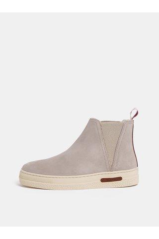 Světle šedé dámské semišové zimní boty s vlněnou podšívkou GANT