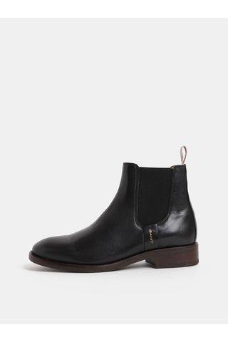 Černé dámské kožené chelsea boty GANT