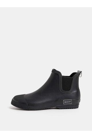 Černé dámské gumové chelsea boty GANT
