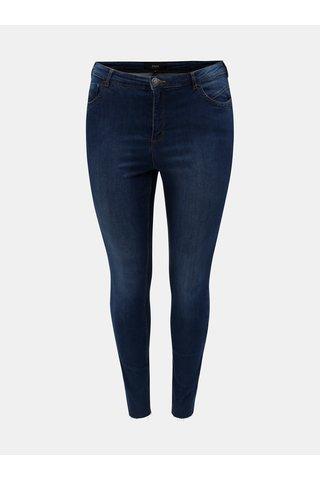 Modré curvy super slim džíny Zizzi Amy