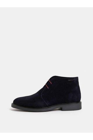 Tmavě modré pánské semišové kotníkové boty GANT