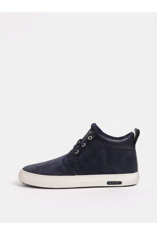 Modré pánské semišové kotníkové boty GANT