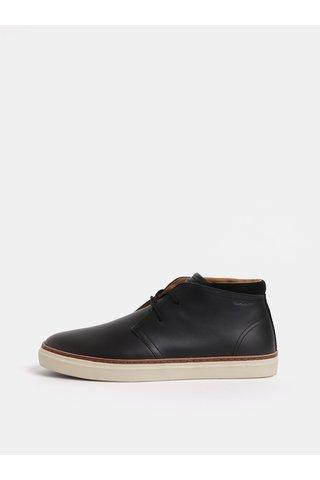 Černé pánské kožené kotníkové boty GANT