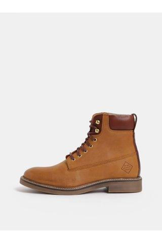 Hnědé dámské kožené kotníkové zimní boty GANT