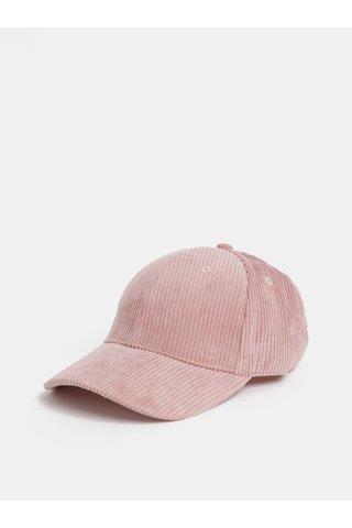 Sapca roz deschis din material reiat Pieces Tori