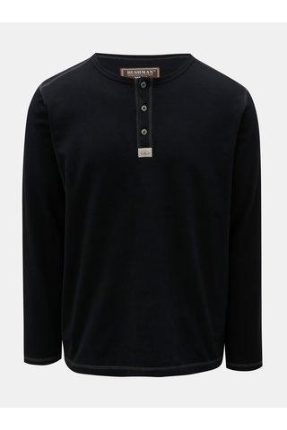 Tricou barbatesc negru cu imprimeu la spate BUSHMAN Kramer