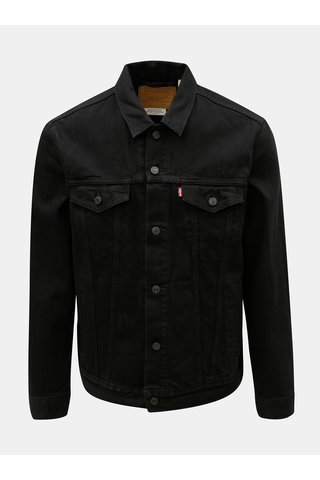 Jacheta barbateasca neagra din denim Levi's® Barrow