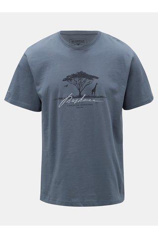 Tricou barbatesc albastru cu imprimeu BUSHMAN Parshall