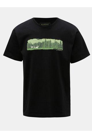Tricou barbatesc negru cu imprimeu BUSHMAN Dawson