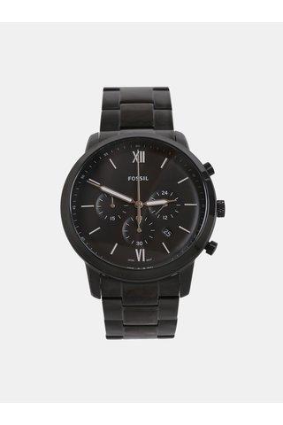 Černé pánské hodinky Fossil Neutra