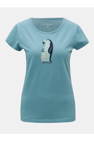 Tricou de dama albastru cu imprimeu BUSHMAN Lodi