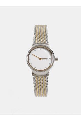 Ceas de dama auriu-argintiu Skagen