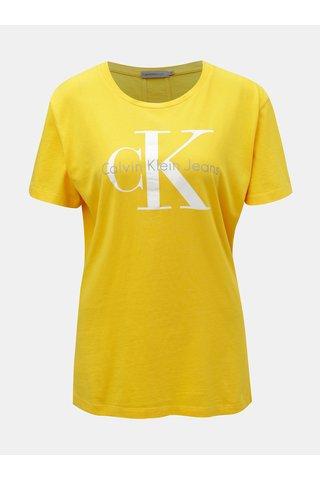 Tricou de dama galben cu imprimeu Calvin Klein Jeans