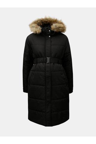 Pardesiu negru de iarna pentru femei insarcinate cu blana artificiala Mama.licious Maggie