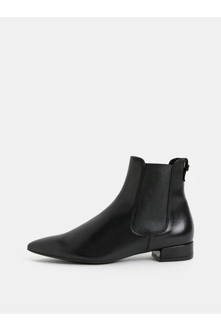 Černé kožené chelsea boty Högl