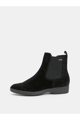 Černé semišové chelsea boty Högl