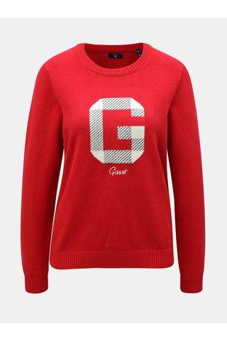 Červený dámský svetr s příměsí vlny GANT