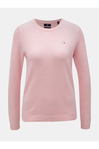 Růžový dámský svetr s vyšívaným logem GANT