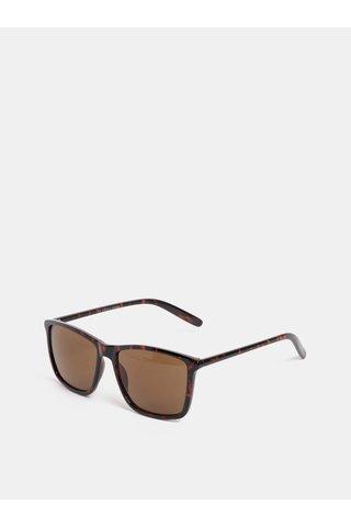 Hnědé vzorované sluneční brýle Jack & Jones Fast