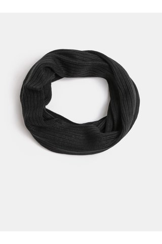 Fular circular negru impletit Jack & Jones Tube