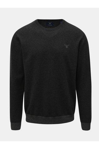 Tmavě šedý pánský svetr s příměsí vlny GANT