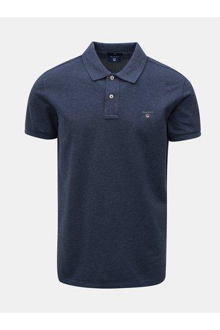 Modré pánské slim fit polo tričko s vyšívaným logem GANT