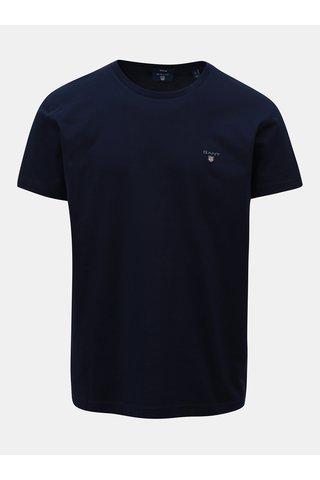 Tmavě modré pánské regular tričko GANT