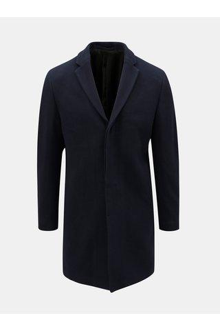 Pardesiu albastru inchis din lana Selected Homme