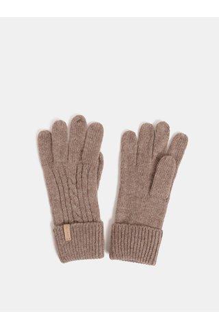 Hnědé dámské rukavice s příměsí vlny GANT