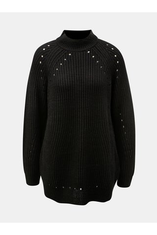 Pulover negru oversize cu model perforat VERO MODA Jay