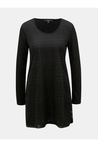 Bluza neagra cu model si mai lung Yest