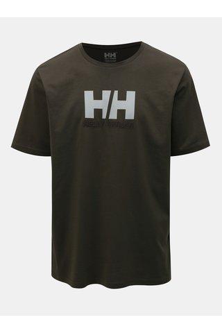 Zelené pánské regular fit tričko s výšivkou HELLY HANSEN