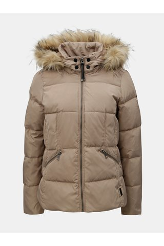 Jacheta bej de iarna matlasata cu blana artificiala VERO MODA Wonderland