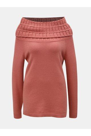 Růžový svetr s límcem Yest